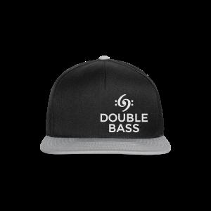 Kontrabass T-Shirt Double Bass Weiß/Brust - Snapback Cap