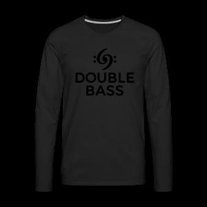 Kontrabass T-Shirt Double Bass Gold - Männer Premium Langarmshirt