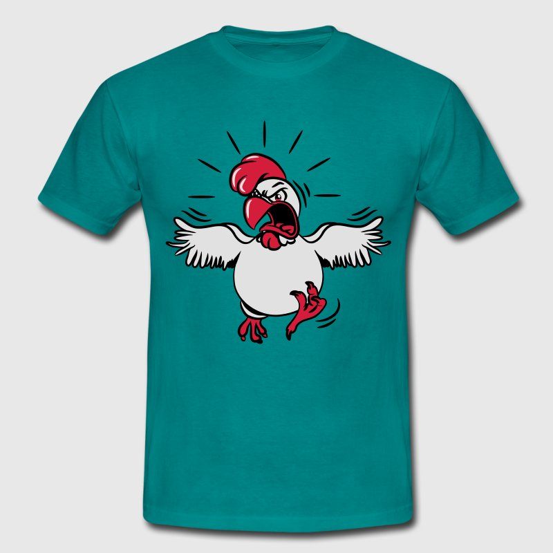 Aggressive funny chicken T-Shirts - Men's T-Shirt
