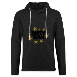 Party Team T-Shirt Schwarz/Gold (Damen) - Leichtes Kapuzensweatshirt Unisex