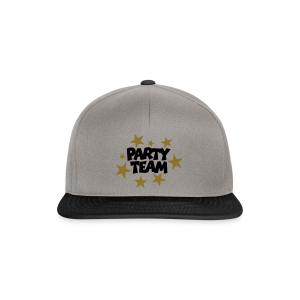 Party Team T-Shirt Schwarz/Gold (Damen) - Snapback Cap