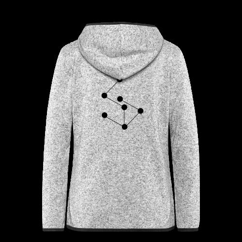 LAN- Shirt Black Logo - Women's Hooded Fleece Jacket