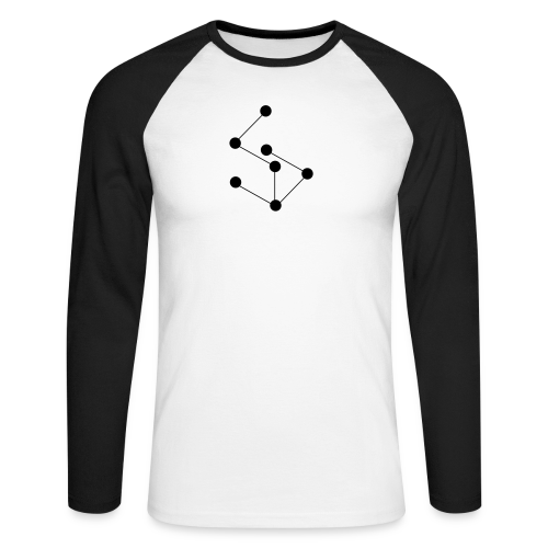 LAN- Shirt Black Logo - Men's Long Sleeve Baseball T-Shirt