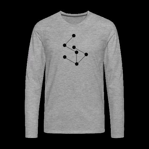 LAN- Shirt Black Logo - Men's Premium Longsleeve Shirt