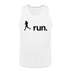 I run. - Männer Premium Tank Top