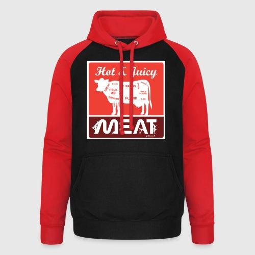 Hot & juicy Meat - Unisex baseball hoodie