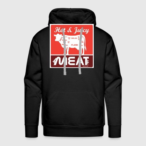 Hot & juicy Meat - Herre Premium hættetrøje