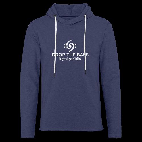 Drop the Bass T-Shirt - Forget all your Trebles (Damen Navy/Weiß) - Leichtes Kapuzensweatshirt Unisex