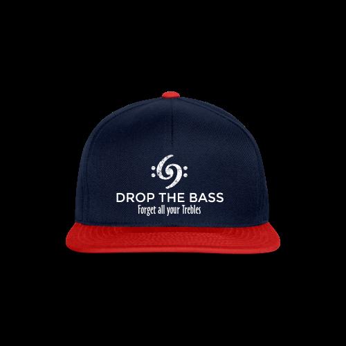 Drop the Bass T-Shirt - Forget all your Trebles (Damen Navy/Weiß) - Snapback Cap