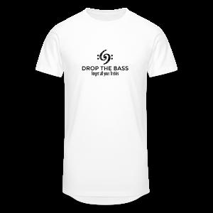 Drop the Bass T-Shirt - Forget all your Trebles (Damen Weiß/Schwarz) - Männer Urban Longshirt