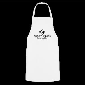 Drop the Bass T-Shirt - Forget all your Trebles (Damen Weiß/Schwarz) - Kochschürze