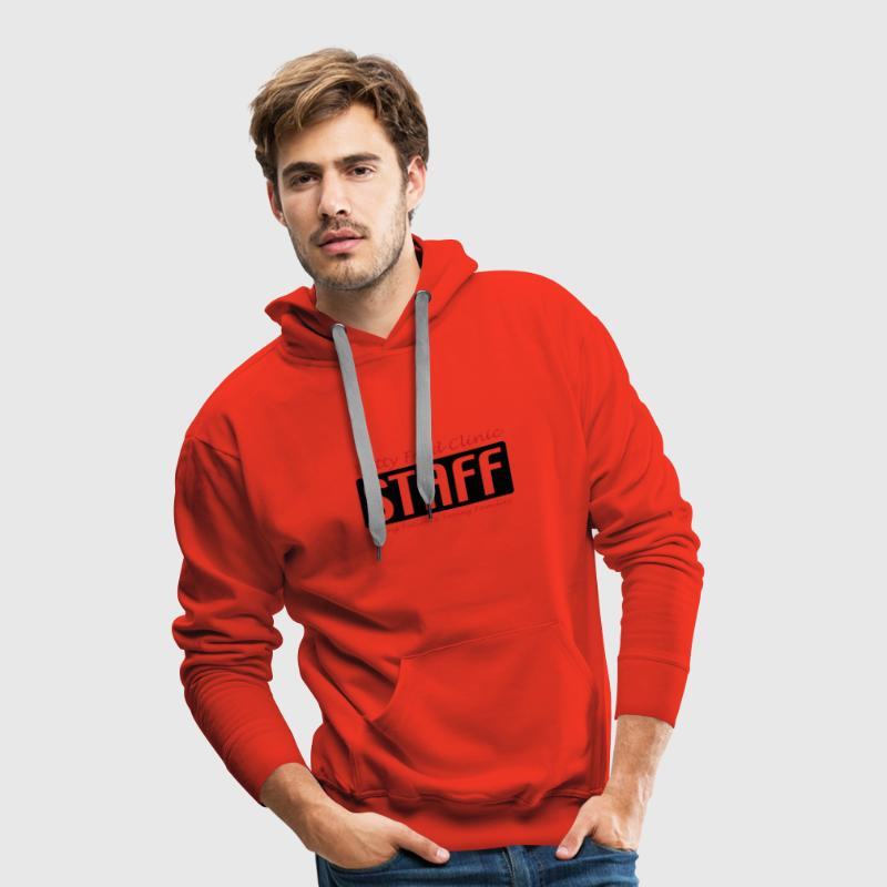 Rot Betty Ford Clinic STAFF Männer Langarm - Männer Premium Hoodie