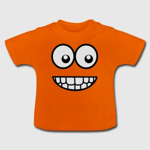 Funny Comic Face (Crazy & Cool) - Smiley Shirts - Baby T-Shirt