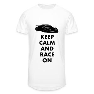 Keep Calm and Race on - Männer Urban Longshirt