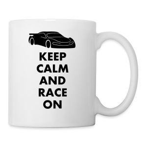 Keep Calm and Race on - Tasse