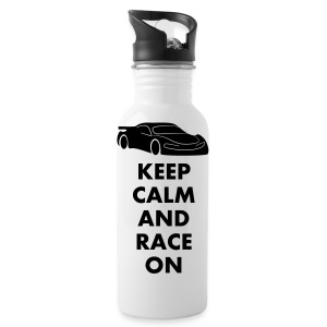 Keep Calm and Race on - Trinkflasche