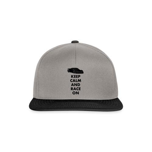 Keep Calm and Race on - Snapback Cap