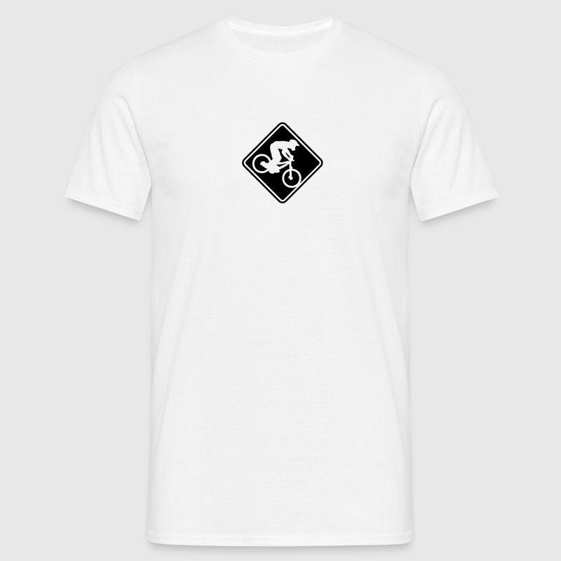 NEW MOUNTAIN BIKE ROADSIGN - Men's T-Shirt