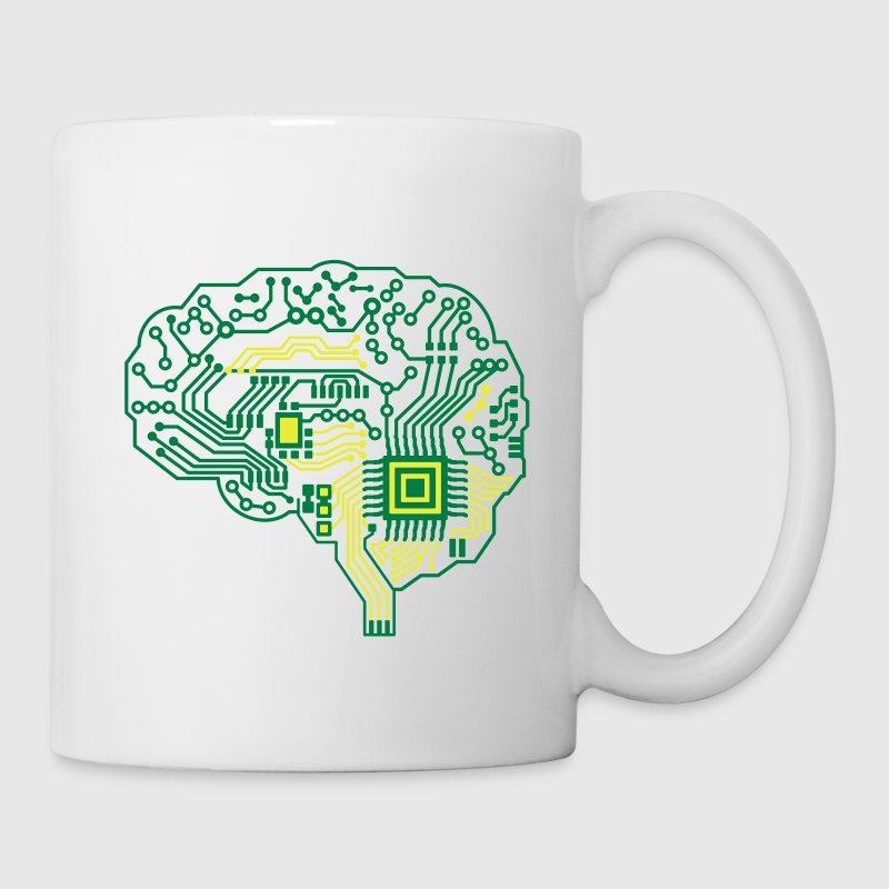 Android brain pcb Mugs & Drinkware - Mug