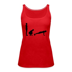 Burpees T-Shirts - Frauen Premium Tank Top