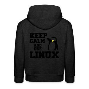 Camiseta Linuxeros FAQ - Sudadera con capucha premium niño