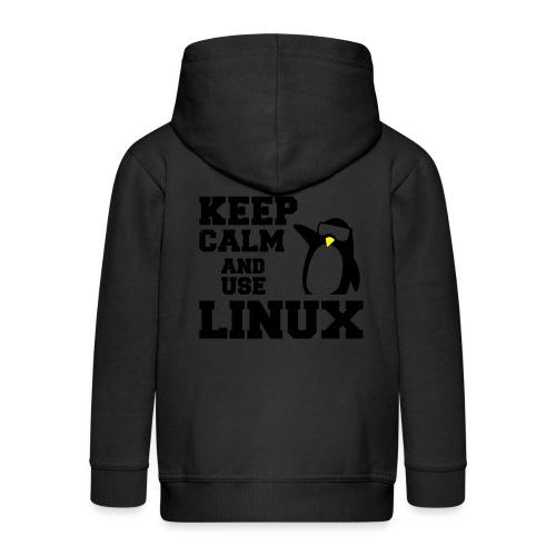 Camiseta Linuxeros FAQ - Chaqueta con capucha premium niño