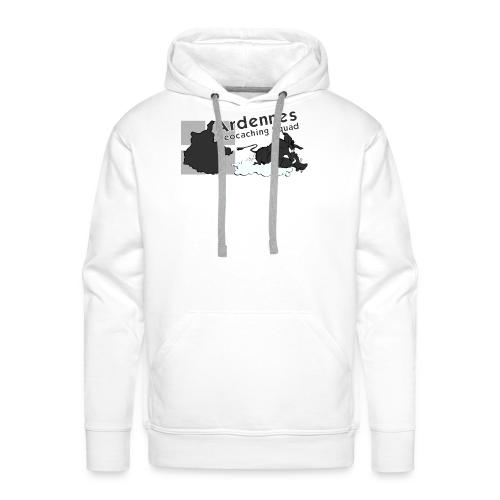 Casquette N&B Ardennes Géocaching Squad - Sweat-shirt à capuche Premium pour hommes