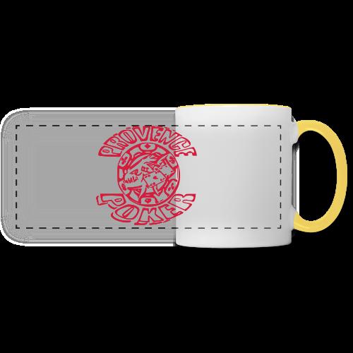 Tapis de souris - Mug panoramique contrasté et blanc