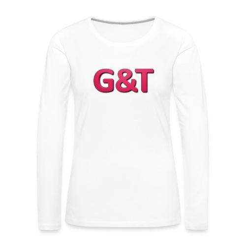 Spilla G&T (5 pack) - Maglietta Premium a manica lunga da donna