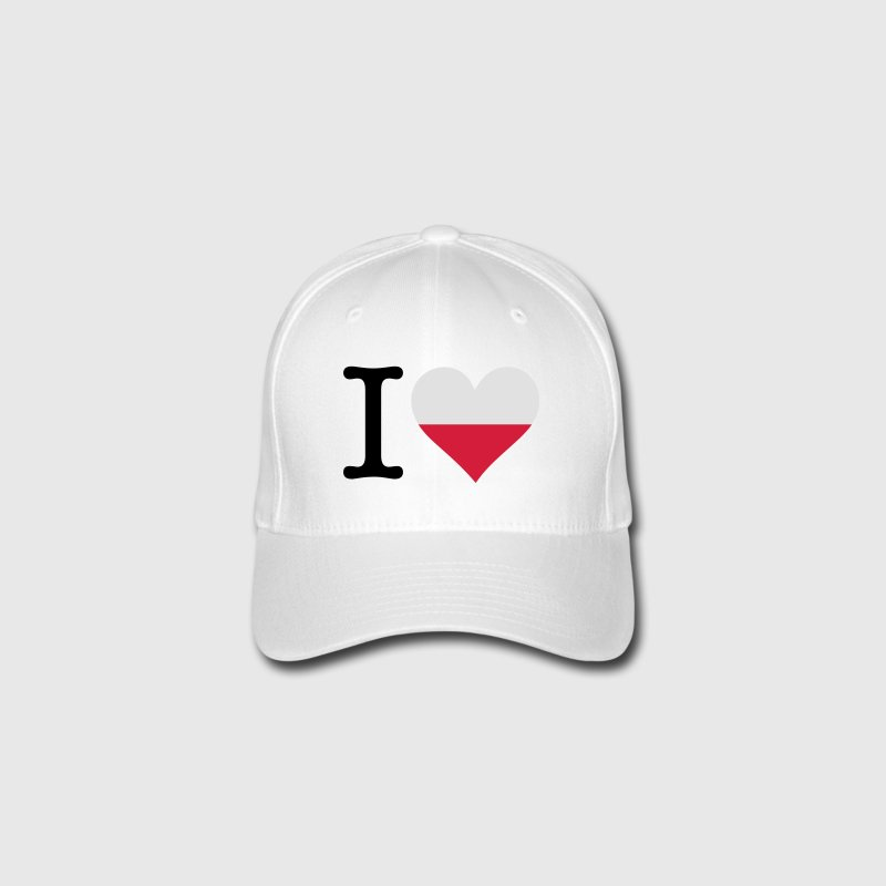I Love Poland Caps & Hats - Flexfit Baseball Cap