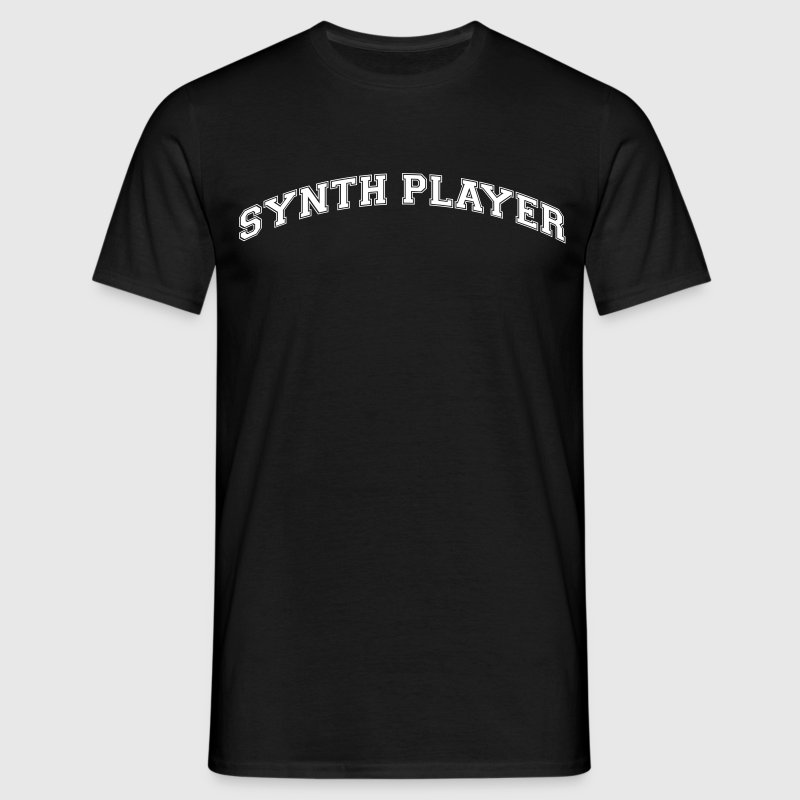 synth player college style curved logo - Men's T-Shirt