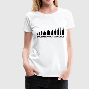 Evolution of Alcohol Toppe - Dame premium T-shirt
