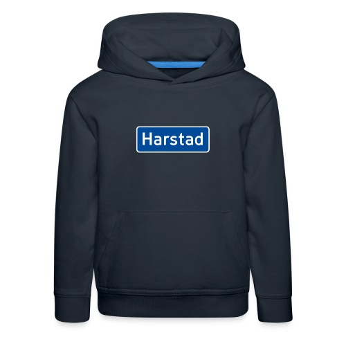 Harstad veiskilt - Premium Barne-hettegenser