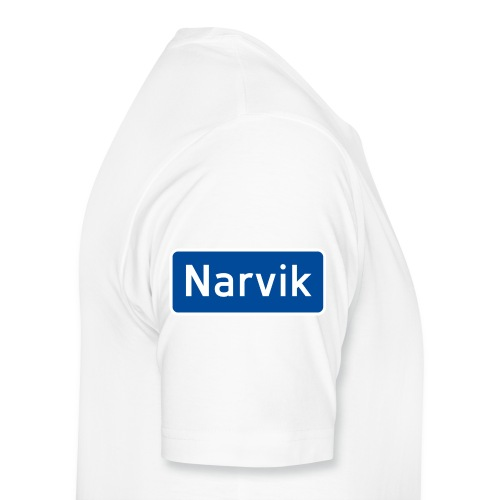 Narvik veiskilt - Premium T-skjorte for menn