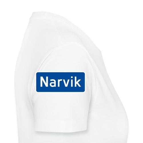 Narvik veiskilt - Premium T-skjorte for kvinner