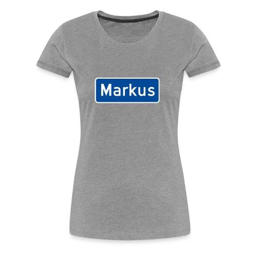 Markus veiskilt - Premium T-skjorte for kvinner