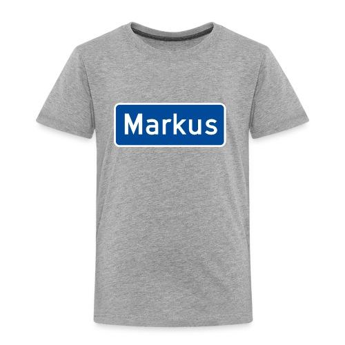 Markus veiskilt - Premium T-skjorte for barn