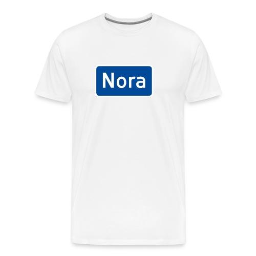 Nora veiskilt - Premium T-skjorte for menn
