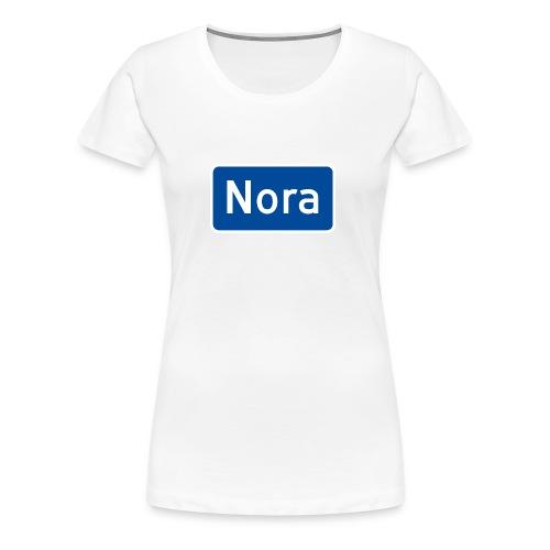 Nora veiskilt - Premium T-skjorte for kvinner