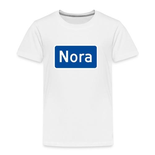 Nora veiskilt - Premium T-skjorte for barn