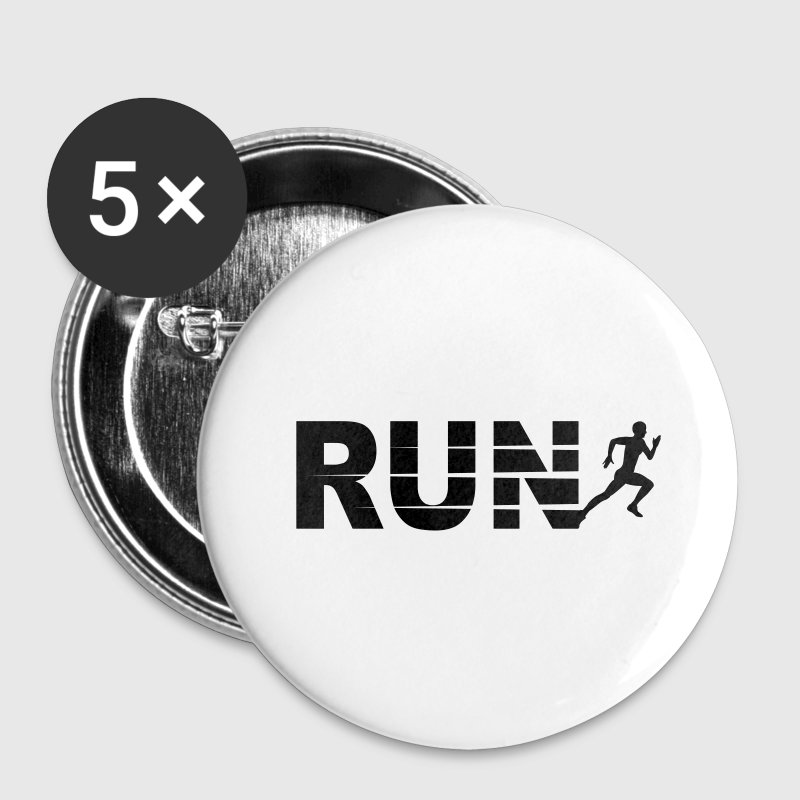 Run, course à pied Badges - Badge petit 25 mm
