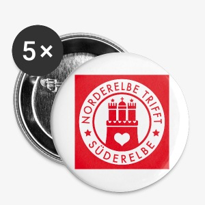 NEU - 32 mm! Norderelbe trifft Süderelbe Künstlergruppe Button - Buttons klein 25 mm
