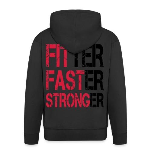 Fitter Faster Stronger - Männer Premium Kapuzenjacke