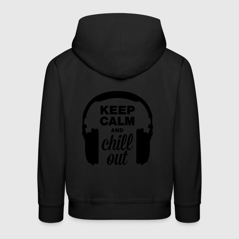 Altoparlante keep calm and chill out Felpe - Felpa con cappuccio Premium per bambini