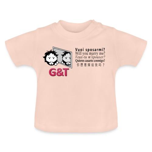 T-shirt ecologica donna Tommy vuoi sposarmi? - Maglietta per neonato