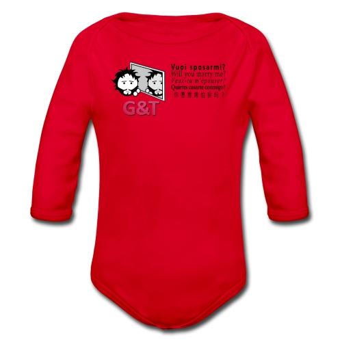 T-shirt ecologica donna Tommy vuoi sposarmi? - Body ecologico per neonato a manica lunga