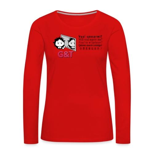 T-shirt ecologica donna Tommy vuoi sposarmi? - Maglietta Premium a manica lunga da donna