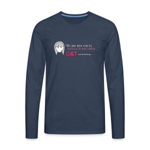 Maglietta donna Sara vino - Maglietta Premium a manica lunga da uomo