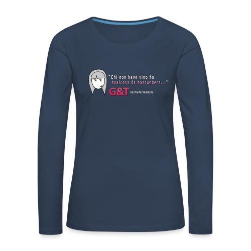 Maglietta donna Sara vino - Maglietta Premium a manica lunga da donna