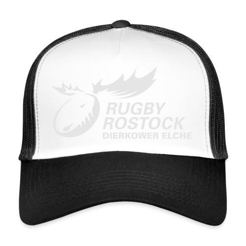 Panorama-Tasse mit rundum Design - Elche Logo - Trucker Cap
